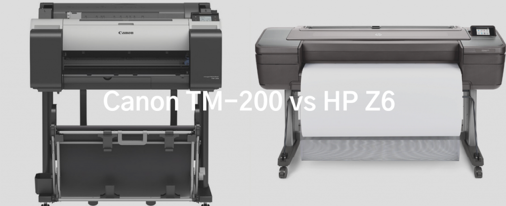 Image of Canon TM 200 and HP Z6 large format printers