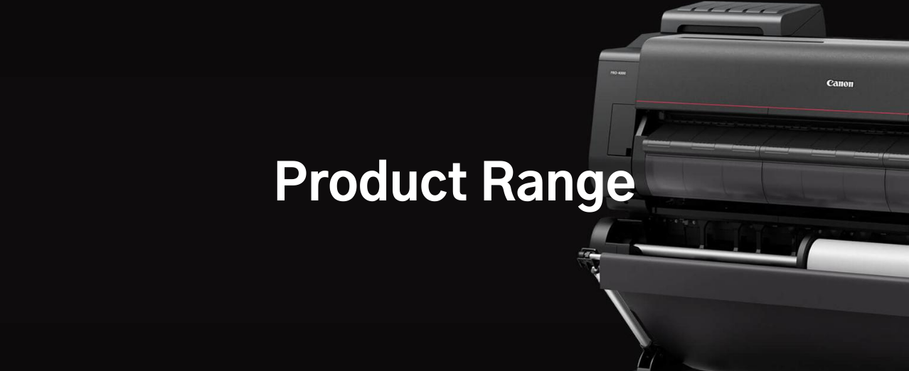 Range of large format printers