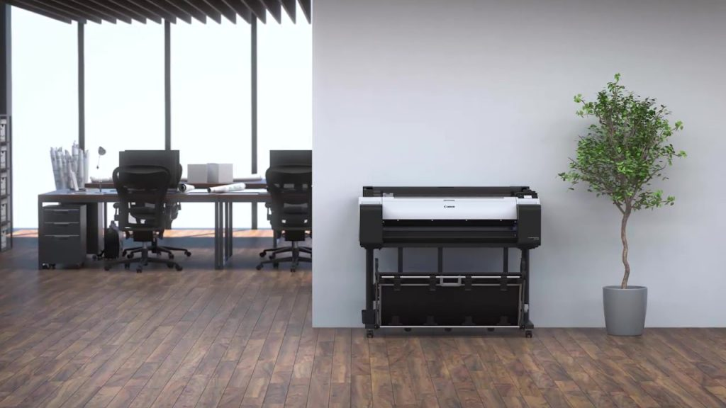 Large format printer in architect office